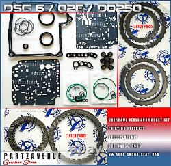 02e Speed Review Dq250 Dsg Friction Steel Clutch Joint And Joint Set Kit