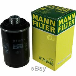 10x Original Mann Oil Filter W 719/45 + 10x Sct Engine Flush Flushing