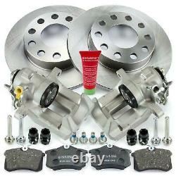 2x Braking Saddle - Brake Discs - Audi A4 B6 B7 Seat 3r Rear Plate
