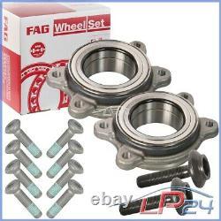 2x Fag Game Set Kit Front Wheel Bearing / Rear Audi A6 4g A7 4g C7 11- 8 4h