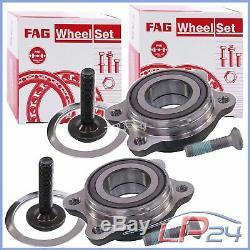 2x Fag Kit Set Set Wheel Bearing Front Rear Audi A6 C6 4f A8 4e R8 4s