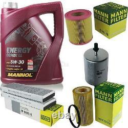 5l Mannol 5w-30 Break LL + Mann-filter Filter Audi A6 4f2 C6 2.0 Tfsi
