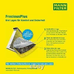 5x Mann Filter Filter On Interior Air Filter For Vw Polo 6n1 55 1.3 75 1.6