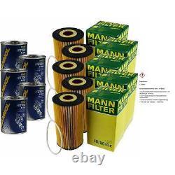 5x Original Mann Oil Filter Hu 8010 Z - 5x Sct Flush Engine Rinse