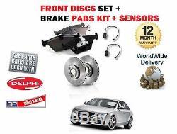 Audi A4 3.2 Tfsi Quattro V6 2008- Front Brake Discs Kit Set +