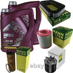 Engine Oil 10l Mannol Diesel Tdi 5w-30 - Mann-filter Audi A8 4e 4.0 Quattro
