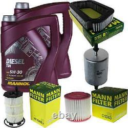 Engine Oil 10l Mannol Diesel Tdi 5w-30 - Mann-filter Audi A8 4e S8 Quattro
