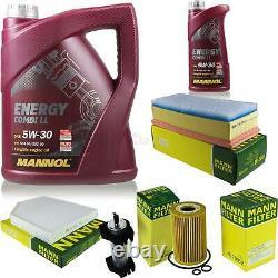 Engine Oil 6l Mannol 5w-30 Break LL + Mann-filter Audi Q5 8r Filter Package