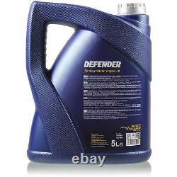 Engine Oil 6l Mannol Defender 10w-40 + Mann-filter Audi A8 4d2 4d8 2.5 Tdi