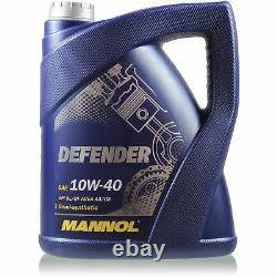 Engine Oil 9l Mannol Defender 10w-40 - Mann-filter Audi A6 4f2 C6 3.0 Tdi