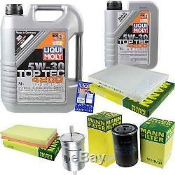 Filter Set Kit + 5w30 Engine Oil For Volkswagen Vw Audi A3 8l1 Tt 8n3 8n9 Golf