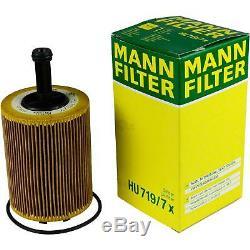 Filter Set Kit + 5w30 Engine Oil For Volkswagen Vw Audi A3 Sportback 8pa