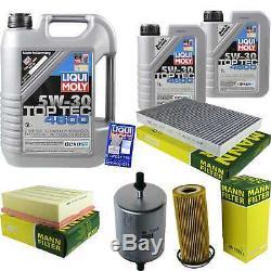 Filter Set Kit + 5w30 Engine Oil For Volkswagen Vw Audi A4 Cabriolet 8h7 B6