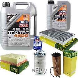 Filter Set Kit + 5w30 Engine Oil For Volkswagen Vw Audi A4 Front 8e5 B6 8ed