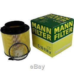 Filter Set Kit + 5w30 Engine Oil For Volkswagen Vw Audi A5 Cabriolet 8f7