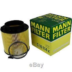 Filter Set Kit + 5w30 Engine Oil For Volkswagen Vw Audi A5 Cabriolet 8f7 A4