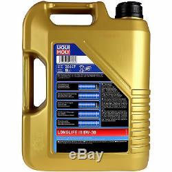 Filter Set Kit + 5w30 Engine Oil For Vw Golf VI 5k1 1k1 517 V Audi A3