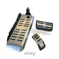 For Audi A6 S6 4f C6+ Front Original Stainless Pedal + Pied Support Kit