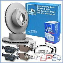 Game Set Kit Ate 24.0136-0103.1 Ventilated Discs Ø385 + Brake Pads Before