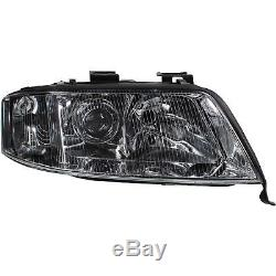 Headlight Set Kit For Audi A6 C5 4b Year Fab. 97-99 Transparent Sedan