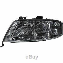 Headlight Set Kit For Audi A6 C5 4b Year Mfr. 97-99 Sedan Bright Chrome