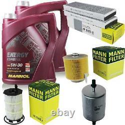 Inspection Set 10 L Mannol Energy Combi LL 5w-30 - Mann Filter 10973846