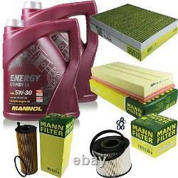 Inspection Set 10 L Mannol Energy Combi LL 5w-30 - Mann Filter 10973847