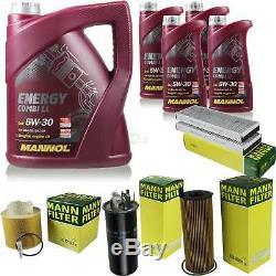 Inspection Set 9 L Mannol Energy 5w-30 LI Combi + Mann Filter 10938959