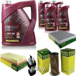 Inspection Set 9 L Mannol Energy 5w-30 LI Combi + Mann Filter 10938985