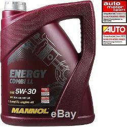 Inspection Set Filter Kit 5w30 Engine Oil For Audi A4 Cabriolet 8h7