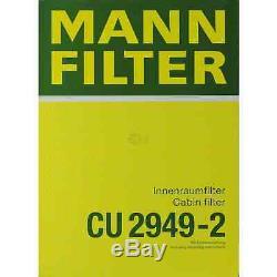 Inspection Set Mann-filter Kit 5w30 Longlife Engine Oil For Audi A8 4d2