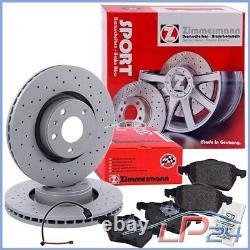 Kit Game Set Zimmermann Sport Discs + Brake Plates Essieu Before 32133515