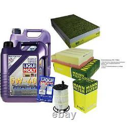 Liqui Moly 10l 5w-40 Engine Oil - Mann-filter For Audi A4 Front 8ed B7 Rs4