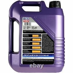 Liqui Moly 10l 5w-40 Oil + Mann-filter For Audi All 4bh C5 4.2 V8 Quatro