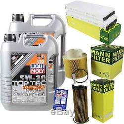 Liqui Moly 10l Toptec 4200 5w-30 Oil + Mann-filter For Audi A6 C6 Any 4fh