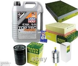 Liqui Moly 5l Toptec 4200 5w-30 Oil + Mann-filter For Audi A4 8e2 B6 Front
