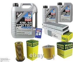 Liquid Inspection Kit Filter Moly 7l 5w-30 Oil For Audi A6 4f2 C6 2.4 3.2