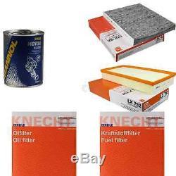 Mahle / Knecht Set On Inspection Filters Set Tbs Engine Wash 11616492