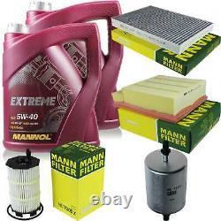 Mannol 10l Extreme 5w-40 Engine Oil + Mann-filter Audi A4 8ec B7 Rs4 Quattro