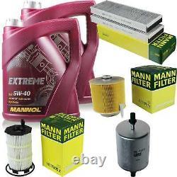 Mannol 10l Extreme 5w-40 Engine Oil - Mann-filter Audi A6 All 4fh C6 4.2 Fsi