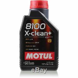Motul 8 L 5w-30 Motor Oil + Mann-filter Audi Q5 Quattro 3.0 Tdi 8r Sq5