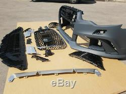 Nine Rs6 Appearance And Style Complete Front Bumper Set Kit For Audi A6 C7 4g