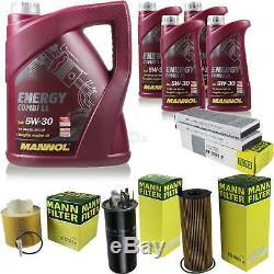 Set Inspection 9 L Mannol Energy 5w-30 LI Combi + Mann Filter 10939002