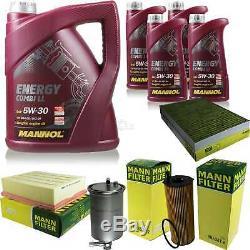 Set Inspection 9 L Mannol Energy 5w-30 LI Combi + Mann Filter 10939051