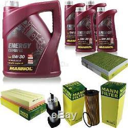 Set Inspection 9 L Mannol Energy 5w-30 LI Combi + Mann Filter 10939060