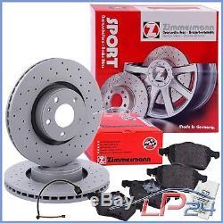 Set Kit Set Zimmermann Sport Discs + Brake Pads Front Axle 32133515