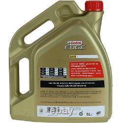 Sketch Inspection Filter Castrol 10l Oil 5w30 For Audi A5 8t3 S5 Quattro