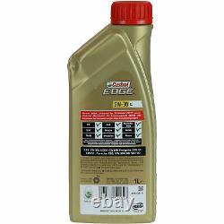 Sketch Inspection Filter Castrol 8l Oil 5w30 For Audi A5 Cabriolet 8f7 S5