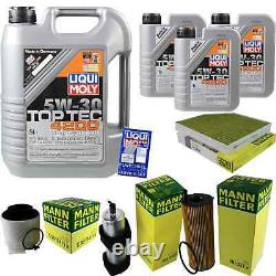 Sketch Inspection Filter Liqui Moly Oil 8l 5w-30 For Audi A4 All 8kh B8
