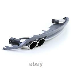 Sport Rear Diffuser Usage With Fin-pipes Kit For Audi A4 B8 Soda